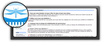 Astuces Windows 7 par libellules.ch. Logo libellules.ch