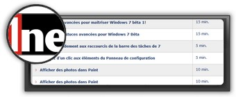 Astuces Windows 7 par 01net.com. Logo 01net.com