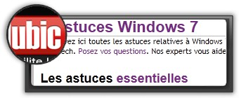 Astuces Windows 7 par clubic. Logo clubic.com