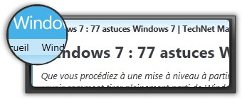 Astuces Windows 7 par technet.microsoft.com. Logo technet.microsoft.com