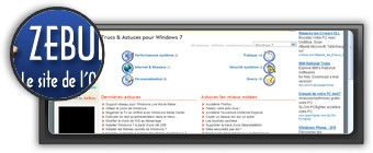Astuces Windows 7 par zebulon.fr. Logo zebulon.fr