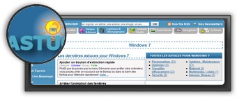Astuces Windows Seven par pcastuces.com. Logo pcastuces.com