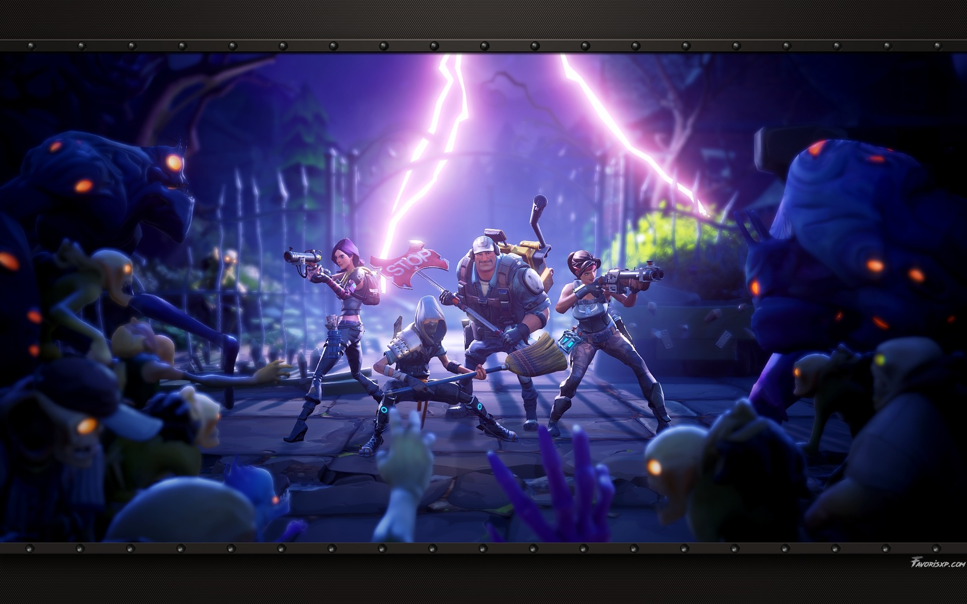 Desktop Wallpaper 2018 Video Game Fortnite Art Hd: Arrière-plans Gratuits Pour PC