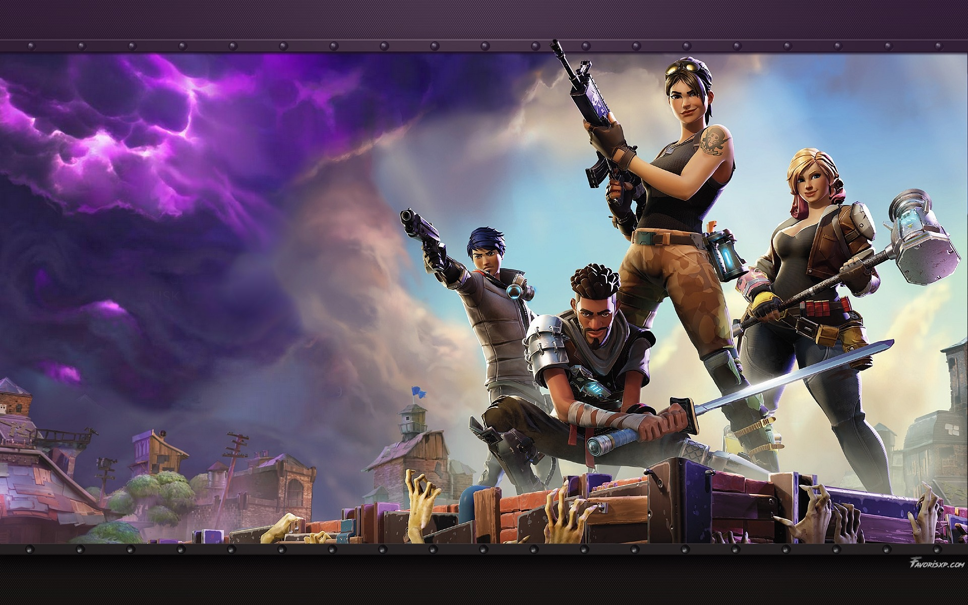 Fortnite fond d 39 cran hd arri re plans gratuits pour pc for Photo ecran pc
