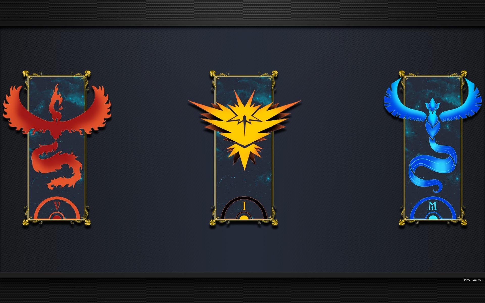 15 Pokémon GO Fonds d'écran - Instinct - Mystic - Valor.