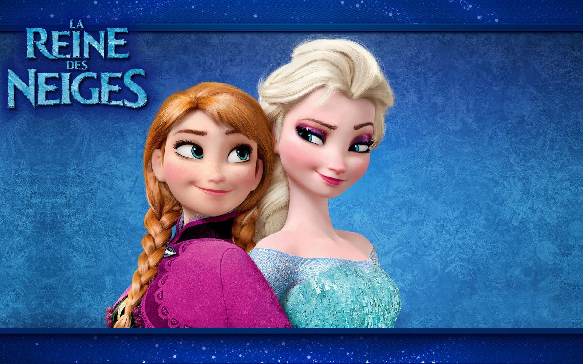 fond dcran anna et elsa la reine des neiges - La Reine Des Neiges Elsa