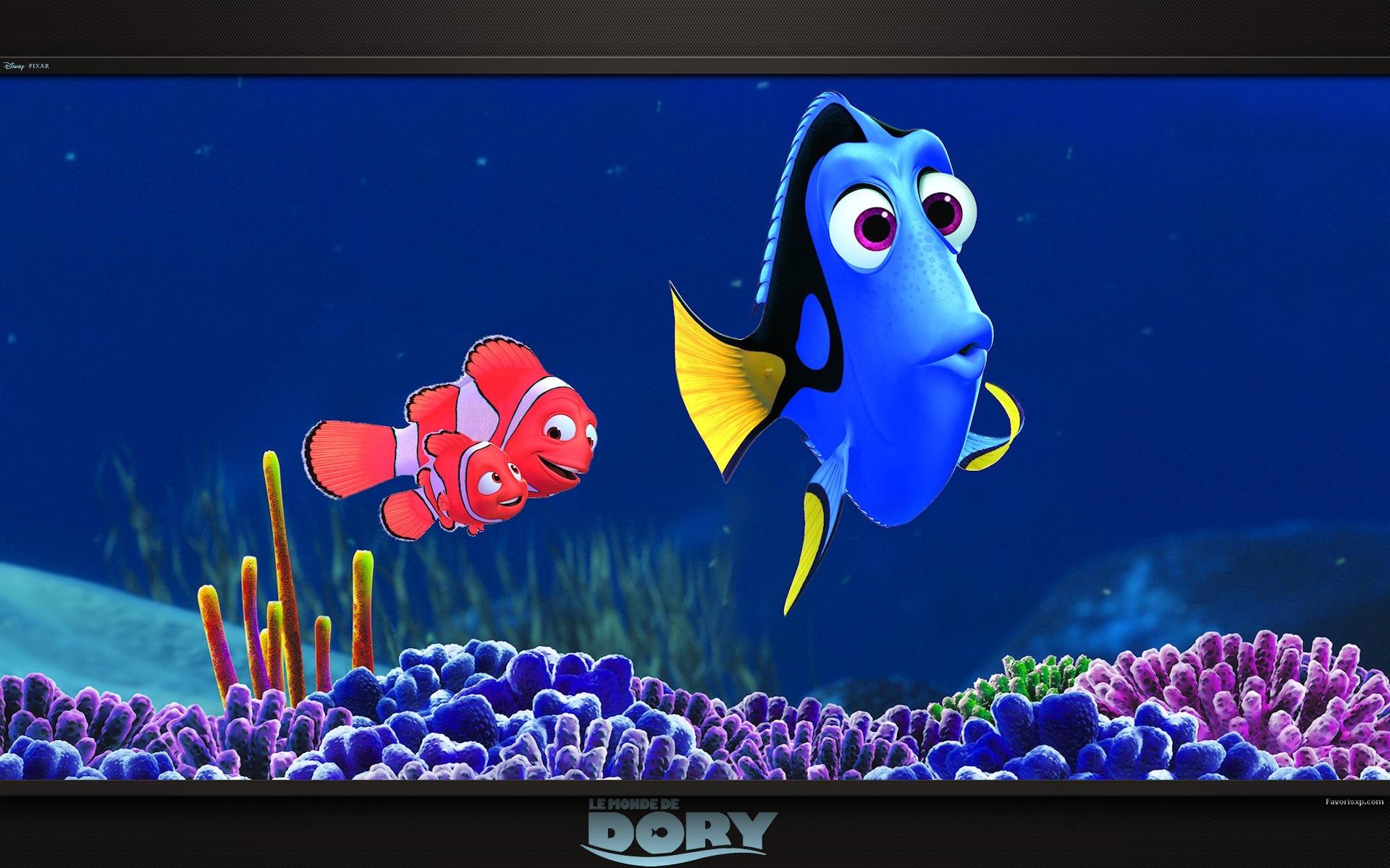 Fonds d 39 cran du monde de dory images disney pixar for Fond ecran monde