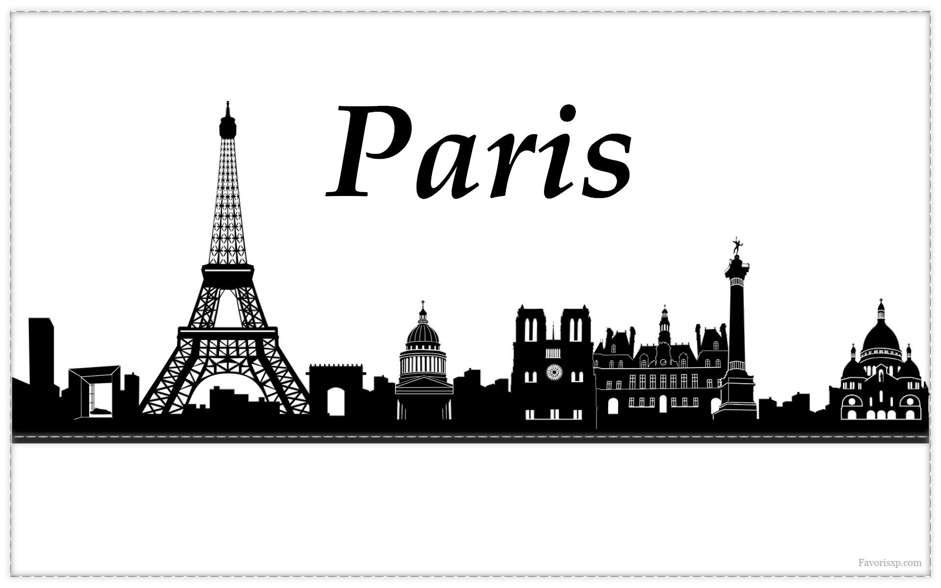 Silhouettes de villes fonds d 39 cran arri re plans - Dessin ange noir et blanc ...