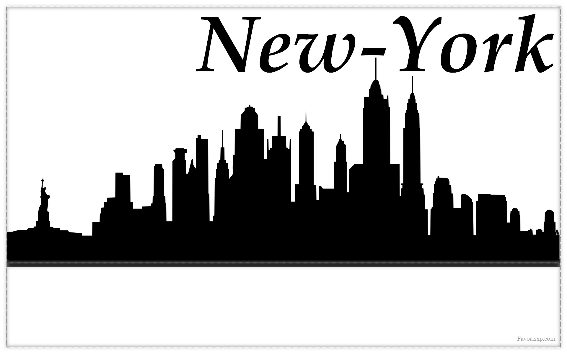 Pin fond decran logo a wallpaper on pinterest - Toile new york noir et blanc ...