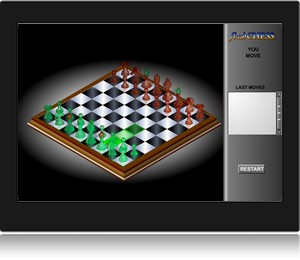 Screenshot du jeu d'échecs en ligne 3D flash chess.