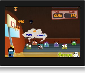 Screenshot du jeu en ligne Top Basketball.