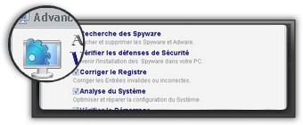 Screenshot du logiciel optimisation Advanced WindowsCare Free.