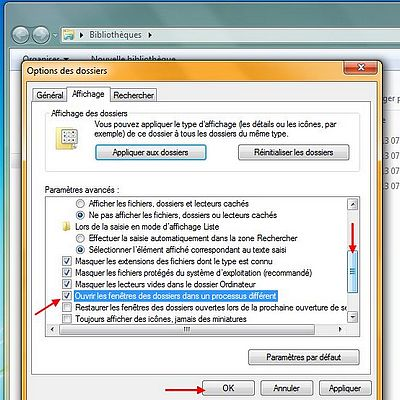 Explorateur windows 7 am liorer ses performances et sa for Ouvrir fenetre dos windows 7